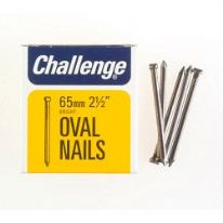 Challenge Oval Wire Nails - Bright Steel (Box Pack) - 65mm